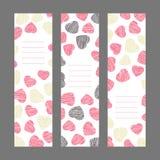 Insieme delle insegne di verticale di San Valentino Ornamento rosa dei cuori V royalty illustrazione gratis