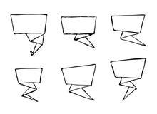 Insieme delle insegne disegnate a mano di vettore di origami Fotografia Stock Libera da Diritti