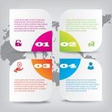 Insieme delle insegne pulite di numero di progettazione moderna usate per la disposizione del sito Web Infographic immagine stock