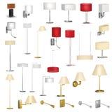 Insieme delle lampade differenti royalty illustrazione gratis