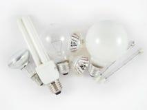 Insieme delle lampadine elettriche Fotografie Stock