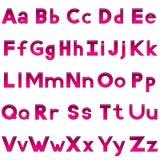 Insieme delle lettere, bottoni Fotografia Stock