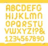 Insieme delle lettere del formaggio Fotografia Stock