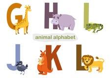 Insieme delle lettere e degli animali per i libri d'apprendimento dei bambini V Fotografie Stock