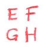 Insieme delle lettere isolate Fotografia Stock Libera da Diritti