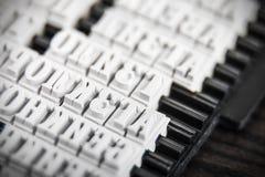 Insieme delle lettere per le guarnizioni ed i bolli Immagini Stock Libere da Diritti