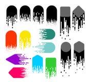 Insieme delle linee di velocità Effetto di colore ed in bianco e nero di moto Progettazione del fondo di pendenza Illustrazione d Immagini Stock
