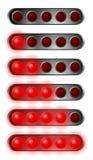 Insieme delle luci rosse di inizio Immagini Stock