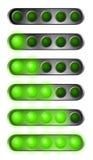 Insieme delle luci verdi di inizio Immagine Stock