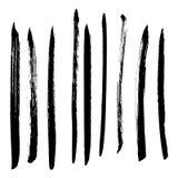 Insieme delle macchie nere di vettore dell'inchiostro Immagine Stock