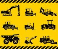 Insieme delle macchine della costruzione pesante Vettore Fotografia Stock Libera da Diritti