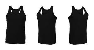 Insieme delle magliette isolate su fondo bianco Immagini Stock