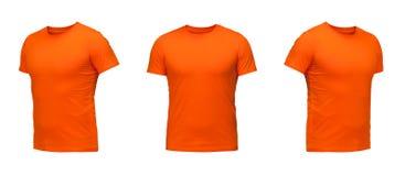 Insieme delle magliette isolate su fondo bianco Fotografie Stock Libere da Diritti