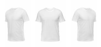 Insieme delle magliette isolate su fondo bianco Immagini Stock Libere da Diritti