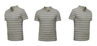 Insieme delle magliette isolate su fondo bianco Immagine Stock Libera da Diritti