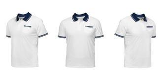 Insieme delle magliette isolate su fondo bianco Fotografia Stock