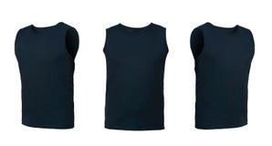 Insieme delle magliette isolate su fondo bianco Immagine Stock