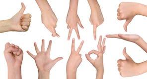 Insieme delle mani dell'adolescente Immagini Stock Libere da Diritti