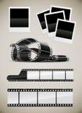 Insieme delle maschere della pellicola e del polaroid della foto Fotografie Stock Libere da Diritti
