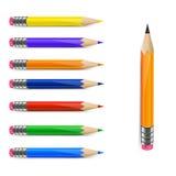 Insieme delle matite Immagine Stock