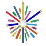 Insieme delle matite Immagine Stock Libera da Diritti