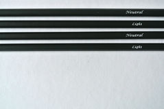 Insieme delle matite Fotografie Stock