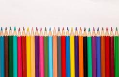 Insieme delle matite colorate 1 Fotografie Stock