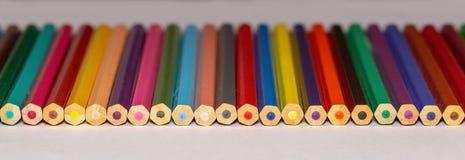 Insieme delle matite colorate 3 Fotografie Stock