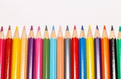 Insieme delle matite colorate 4 Immagini Stock
