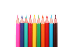 Insieme delle matite colorate (isolate) Fotografia Stock