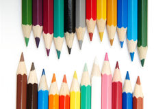 Insieme delle matite di colore immagini stock