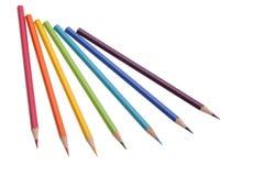 Insieme delle matite di colore Fotografie Stock Libere da Diritti