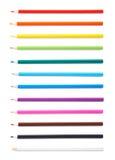 Insieme delle matite multiple di colore isolate Fotografia Stock