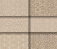 Insieme delle mattonelle senza cuciture dei modelli con le mandale illustrazione vettoriale