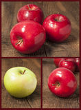 Insieme delle mele Fotografie Stock