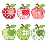 Insieme delle mele della rappezzatura Fotografia Stock