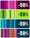 Insieme delle modifiche a strisce eleganti di vendite Immagini Stock