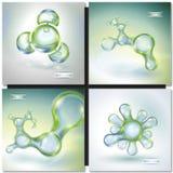 Insieme delle molecole astratte royalty illustrazione gratis
