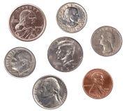 Insieme delle monete degli Stati Uniti Fotografie Stock Libere da Diritti