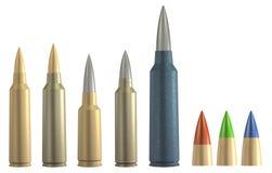 Insieme delle munizioni del fucile 3d royalty illustrazione gratis