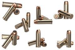 Insieme delle munizioni della pistola della pallottola illustrazione vettoriale