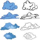 Insieme delle nubi illustrazione vettoriale
