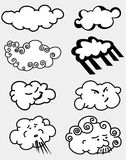 Insieme delle nubi royalty illustrazione gratis