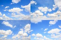Insieme delle nuvole con lo sfondo naturale del cielo blu Immagine Stock