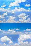 Insieme delle nuvole con lo sfondo naturale del cielo blu Immagine Stock Libera da Diritti