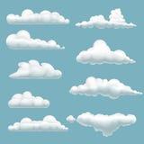 Insieme delle nuvole del fumetto Fotografia Stock Libera da Diritti