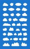 Insieme delle nuvole ized Immagine Stock Libera da Diritti