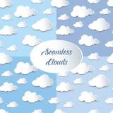 Insieme delle nuvole senza cuciture del ritaglio Fotografia Stock