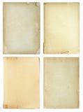 Insieme delle pagine del vecchio libro isolate su bianco Immagini Stock