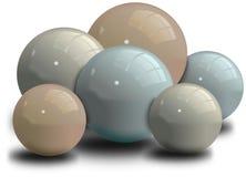 Insieme delle palle brillanti con ombra Fotografie Stock Libere da Diritti